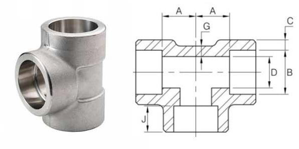 Tees of steel pipe fittings
