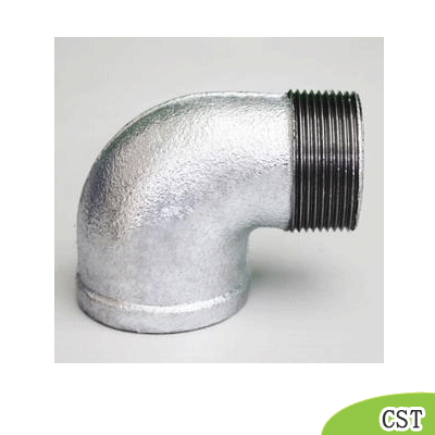 malleable iron male and female thread elbow
