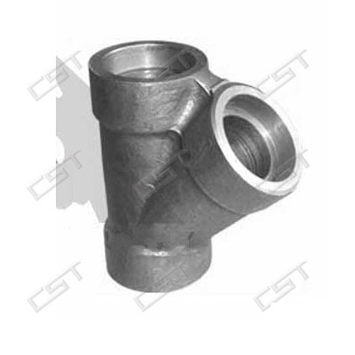 Malleable iron Y pipe tee